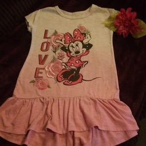 Girls 4t Disney minnie mouse casual dress